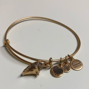 "Alex and Ani Jewelry - ""Conch Shell"" rare bangle - Alex + Ani (gold tone)"